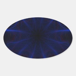 Dk. Blue laser Oval Sticker