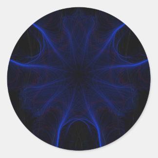 Dk. Blue laser Round Sticker