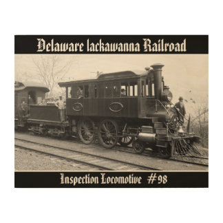 DL+ W Steam Inspection Locomotive Wood Wall Decor