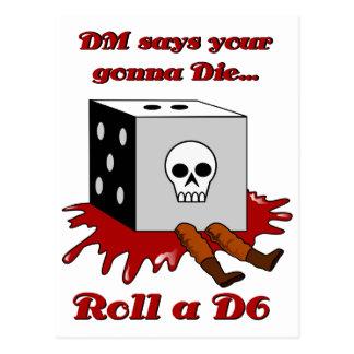 DM says your gonna DIE... Postcard
