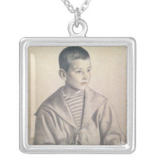 Dmitri Dmitrievich Shostakovich  as a Child Silver Plated Necklace