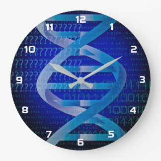 DNA ID Blue Large Clock