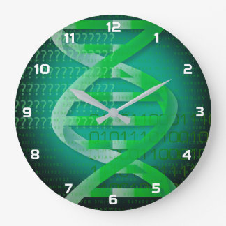 DNA ID Green Large Clock