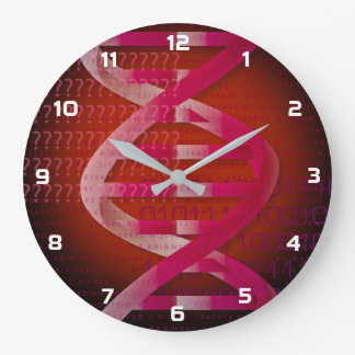 DNA ID Red Large Clock