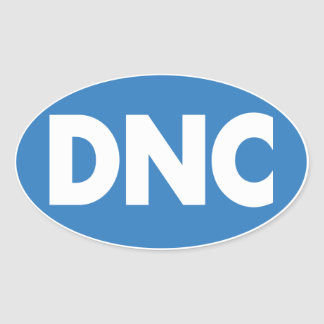 DNC Oval Sticker in Blue