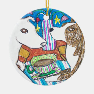 Do American Pitbull Terriers Have Coffee Christmas Ornament