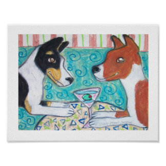 Do Basenjis Have Martinis? Art Poster