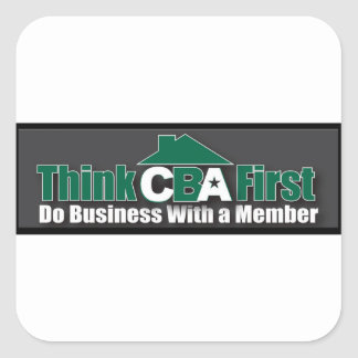 Do Business WIth A Member Square Sticker