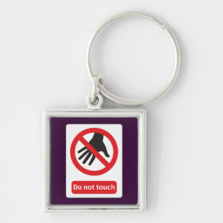 DO emergency touch Silver-Colored Square Key Ring