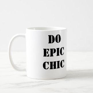 Do Epic Chic Black and White Coffee Mug
