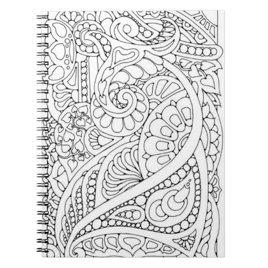 Do it Yourself Colouring Page Notebook