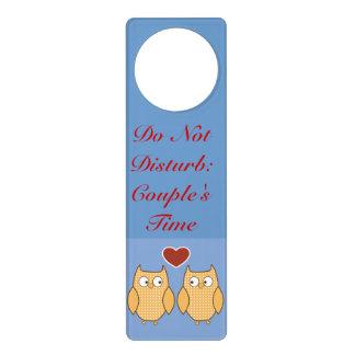 Do Not Disturb Couples Door Knob Hanger