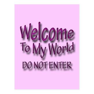 Do Not Enter pnk Postcard