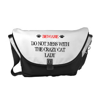 Do Not Mess with the Crazy Cat Lady Courier Bag