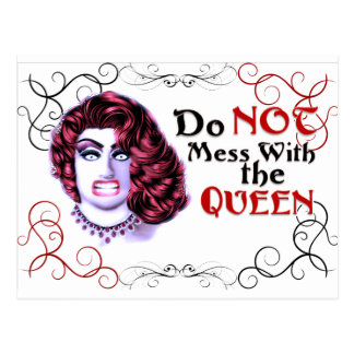 Do NOT Mess with the Queen Postcard