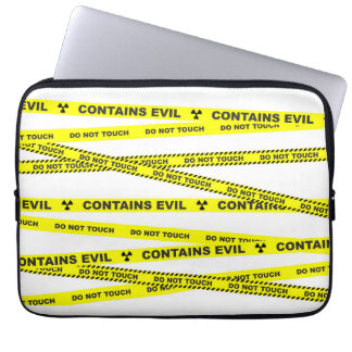 Do not touch. Contains evil. Laptop Sleeve