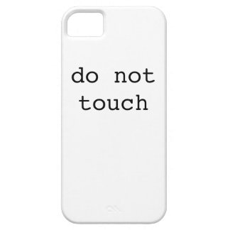 do not touch (iphone case) iPhone 5 covers