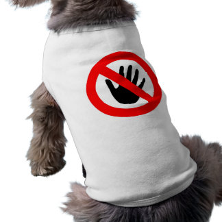 Do not touch sleeveless dog shirt