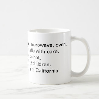 Do not use in the State of California Basic White Mug
