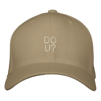DO U? Destroyed Cap Template Embroidered Hat