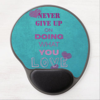 Do what you love motivational text typography gel mouse pad