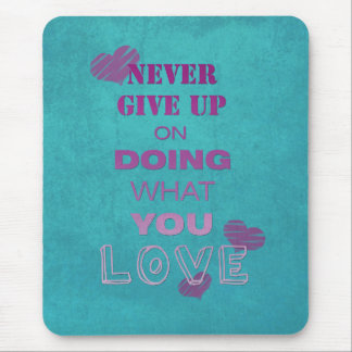 Do what you love motivational text typography mouse pad