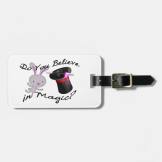 Do You Believe In Magic Top Hat & Rabbit Luggage Tag