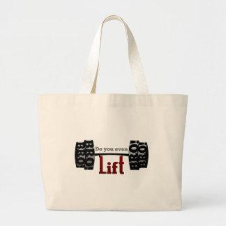 Do you even lift bro barbells jumbo tote bag