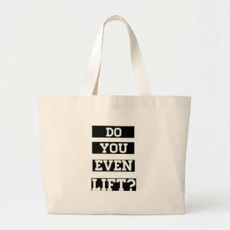 Do you even lift canvas bags