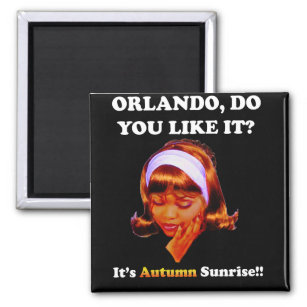 Do You Like It Orlando? It's Autumn Sunrise Magnet