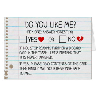 Do You Like Me Cards