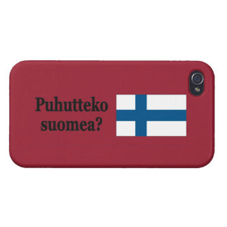 Do you speak Finnish? in Finnish. Flag bf iPhone 4/4S Cases