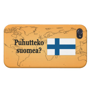 Do you speak Finnish? in Finnish. Flag bf Case For iPhone 4