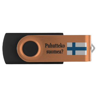 Do you speak Finnish? in Finnish. Flag bf Swivel USB 2.0 Flash Drive