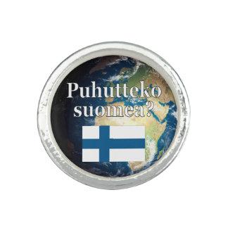 Do you speak Finnish? in Finnish. Flag & Earth
