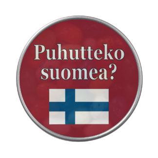 Do you speak Finnish? in Finnish. Flag Jelly Belly Tin