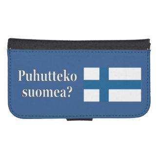 Do you speak Finnish? in Finnish. Flag wf Galaxy S4 Wallets