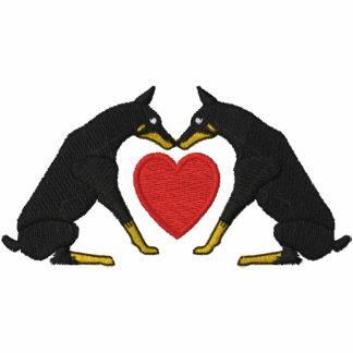 Doberman Love Embroidered Short Sleeved Shirt