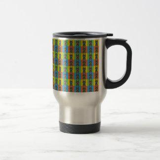 Doberman Pinscher Dog Cartoon Pop-Art Coffee Mugs