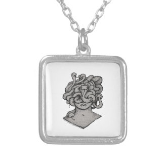 Docile Medusa Silver Plated Necklace