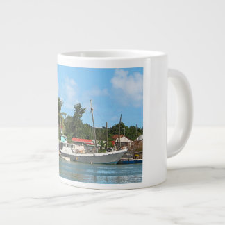 Docked Boats at Antigua Large Coffee Mug