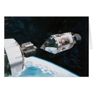 Docking In Space - Artist Rendering Card