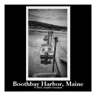 "Dockside Boothbay 20"" x 20"", Poster (Semi-Gloss)"