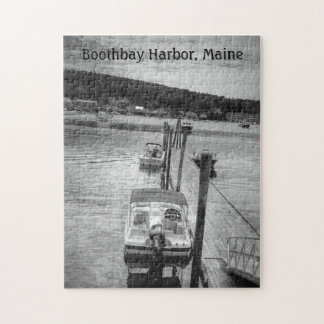 Dockside Boothbay Harbor 11x14 Photo Puzzle w/Box