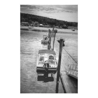 "Dockside Boothbay Harbor 5.5"" x 8.5"" Stationery"