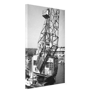Dockside Crane Canvas Print