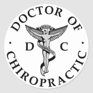 Doctor of Chiropractic Logo Stickers