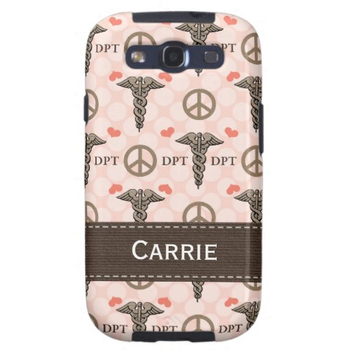 Doctor of Physical Therapy Caduceus Samsung Galaxy Galaxy SIII Cases