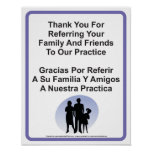 Doctor Office Patient Referral Wall Sign Print