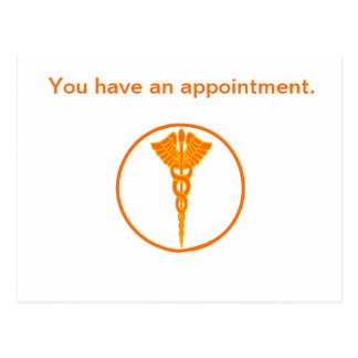 Doctor Symbol Customer Appointment Postcard